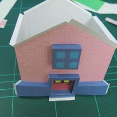 วิธีทำโมเดลกระดาษเป็นรูปบ้าน (Little House Papercraft Model) 009