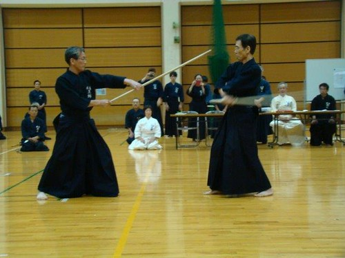 My ZNKR Jodo Teachers, Kurogo Sensei & Honda Sensei | by Mark Tankosich