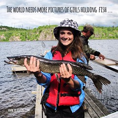 The world needs more pictures of girls holding their fish.  Photo from the Christopherson family.  #bearskinlodge #gunflinttrail #girlswhofish