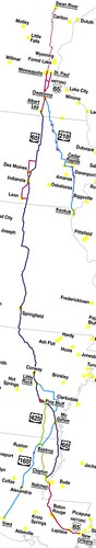 Map of US highway 65 and family, with US 218 and US 425 | by Our Own Solar System