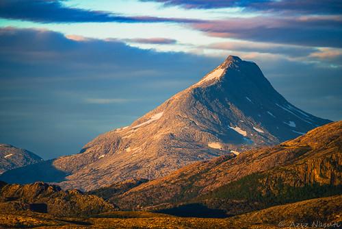 sunset summer mountain norway norge no sommer ngu nordland leka nordtrøndelag bindal gelogy