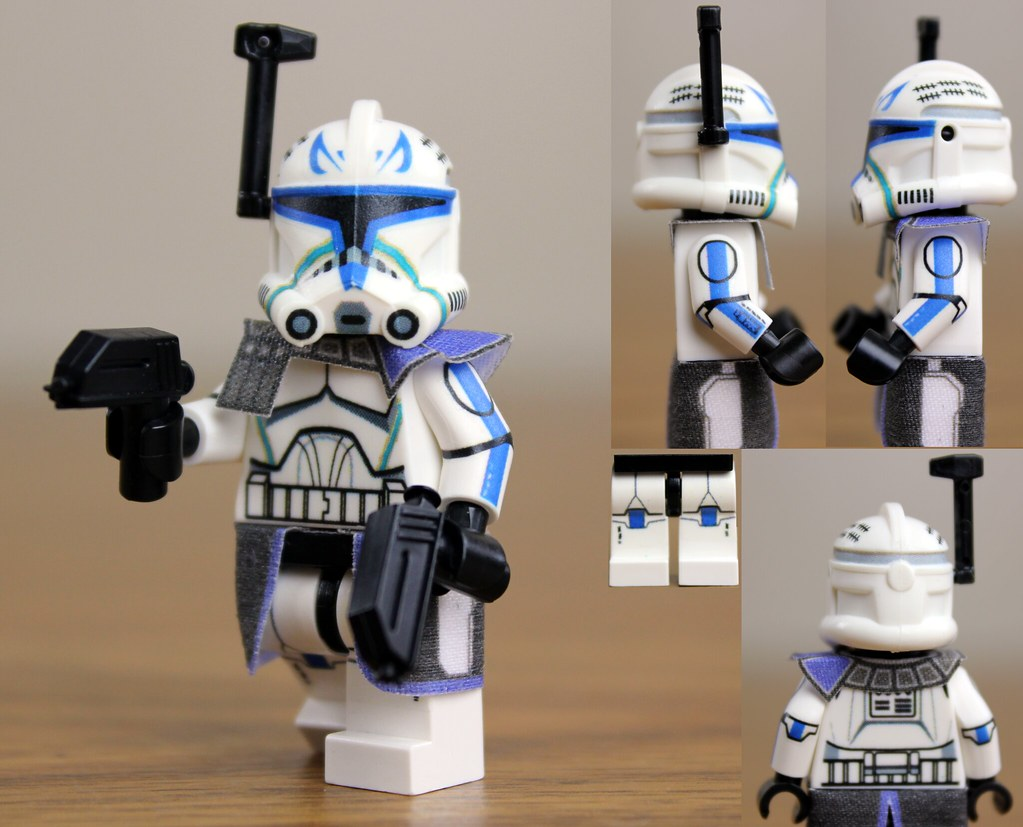 Custom Lego Captain Rex Clone Wars Phase 2 Here Is My Ne Flickr