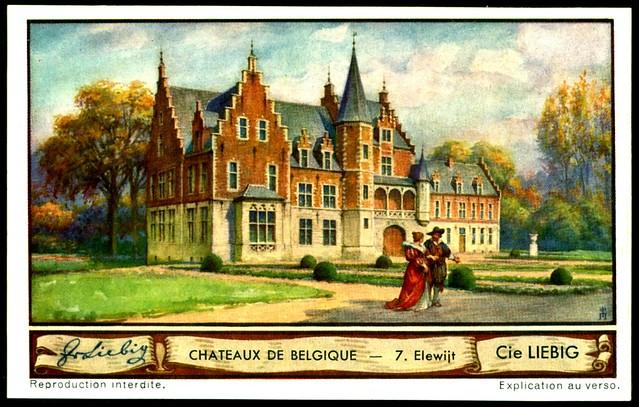 Liebig Tradecard S1288 Belgian Chateaux ~ Elewijt