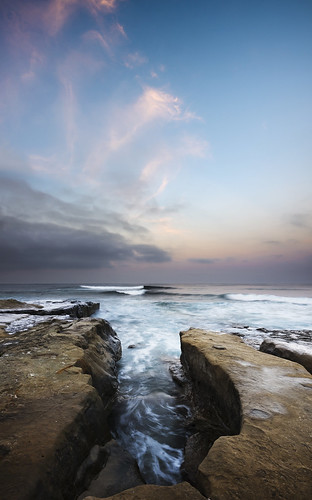ocean sky cliff seascape motion blur color beach nature water rock clouds sunrise landscape photography dawn la nikon marine san long exposure waves diego william formation layer reef jolla d800 hospitals dunigan