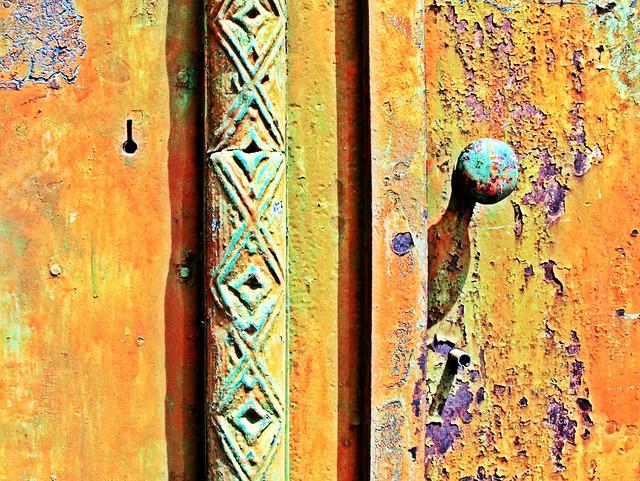 Puerta oxidada