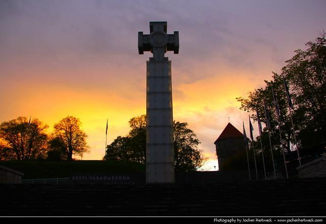 Sunset, Vabaduse Väljak, Tallinn, Estonia