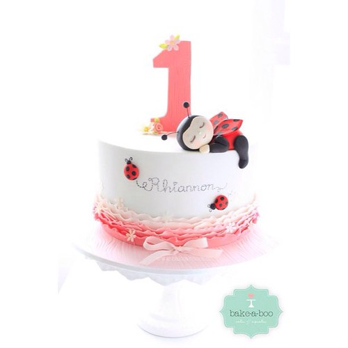 #cuteladybug #cake#bakeaboo | by Bake-a-boo Cakes NZ