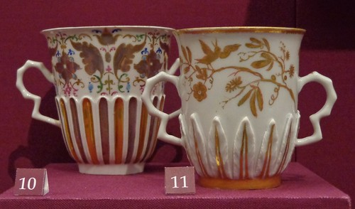 gilded two-handled chocolate beakers (1717 to 1720)