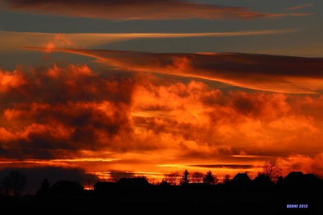 Sonnenuntergang über Rescheid Eifel