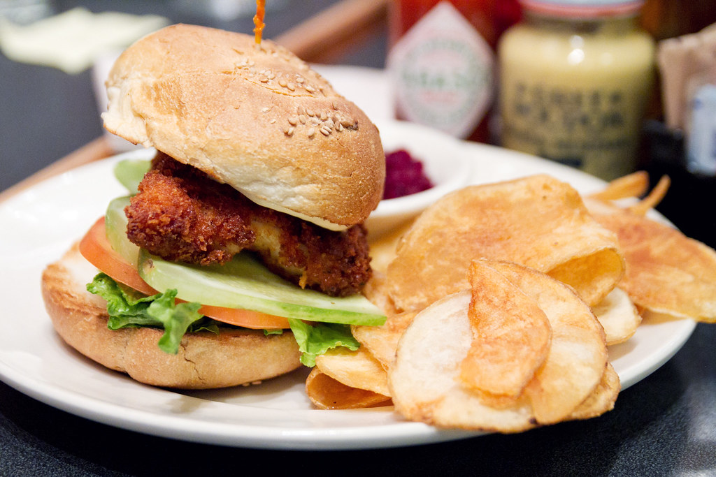 Chicken Schnitzel Sandwich Veselka Breaded Chicken Cutlet Flickr