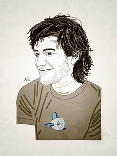 Aaron Swartz, drawn by me | by Mal Booth