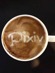 Today's latte, Pixiv.