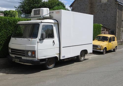 Peugeot J9 and Renault 4   by Spottedlaurel