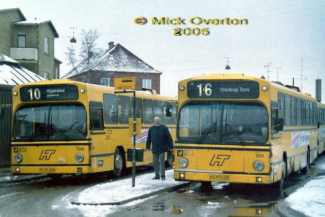 Volvo B10R Bus Danmark HT1290 HL91564 + 1281 HJ97408