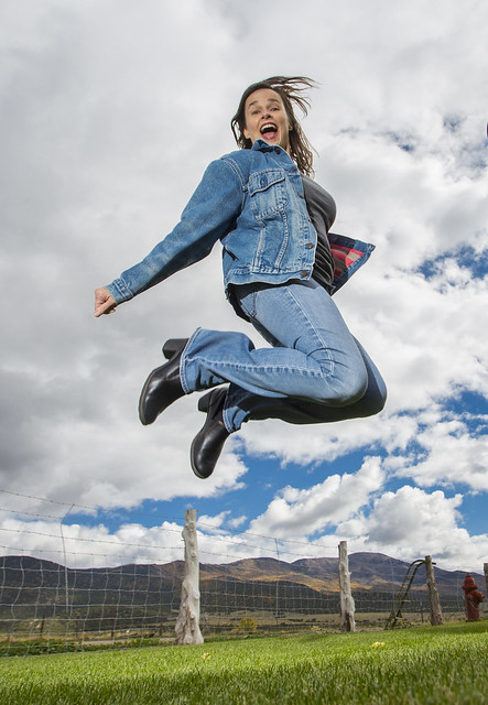 Denim never looked so good flying through the air