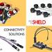 Shield banner 1h Dsub connectors box sensor