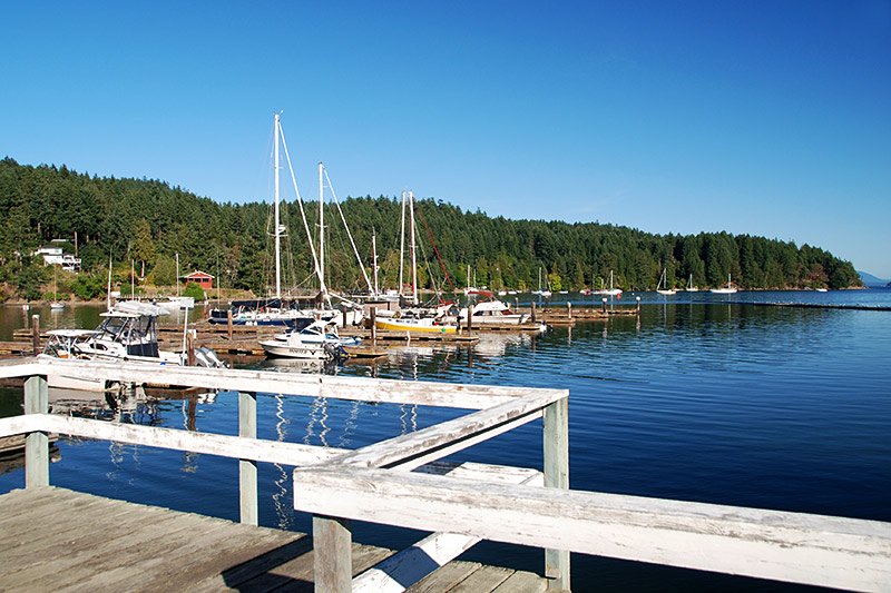 Port Browning, Pender Islands, Gulf Islands, Georgia Strait, British Columbia, Canada