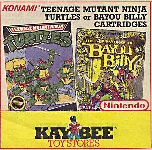 KAY•BEE TOY STORES :: Christmas in October pg.4 // .. #TMNT & BAYOU BILLY games isolated  (( OCTOBER,8 1989 )) by tOkKa