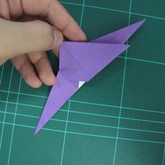 วิธีพับกระดาษเป็นรูปนกอินทรี (Origami Eagle) 014