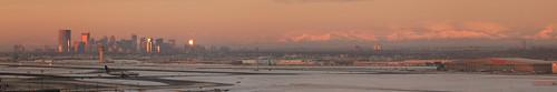 city morning mountain snow canada calgary sunrise alberta prairie alpenglow