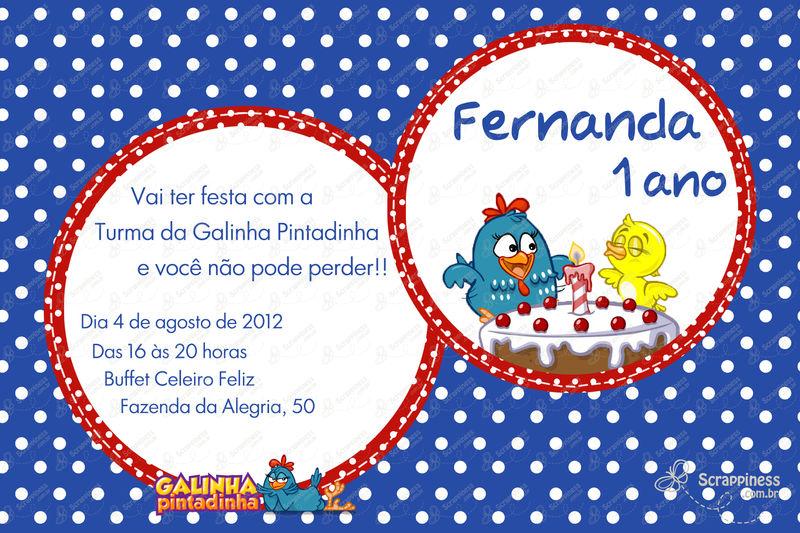 Convites Galinha Pintadinha Para Imprimir 1 Aninho Flickr