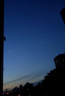 Moon and Jupiter at sunset May 2nd