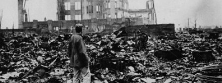 La ciudad de Hiroshima tras el lanzamiento de la bomba atómica