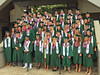 87 current and former UH student-athletes earned their degrees during the University of Hawaii at Manoa spring commencement ceremony on May 14, 2016.