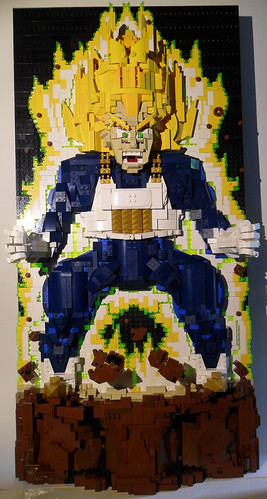 Vegeta Power Up light and blacklight1   by RedRoofArt