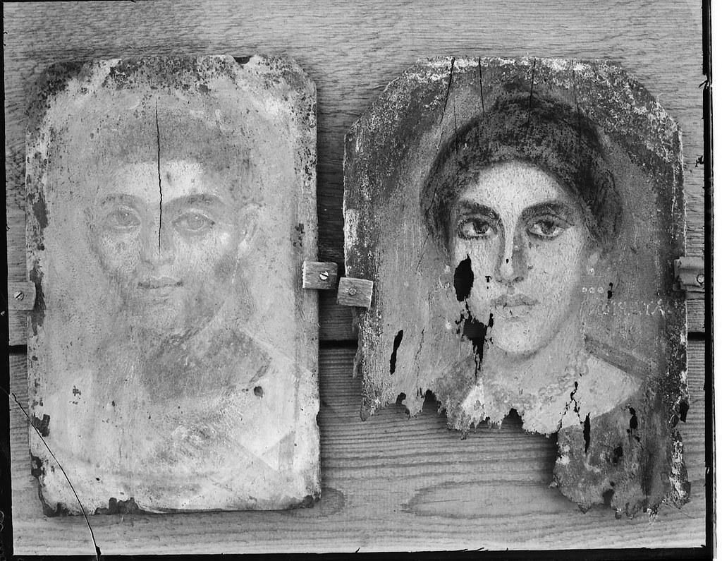 GR.NEG.055 - Mummy portraits from Tebtunis