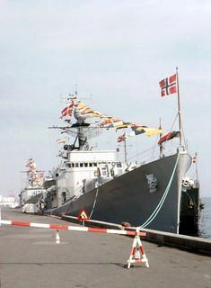 The Norwegian Navy Visits Denmark.