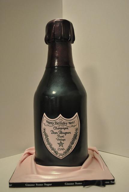 Bottle of Dom Perignon