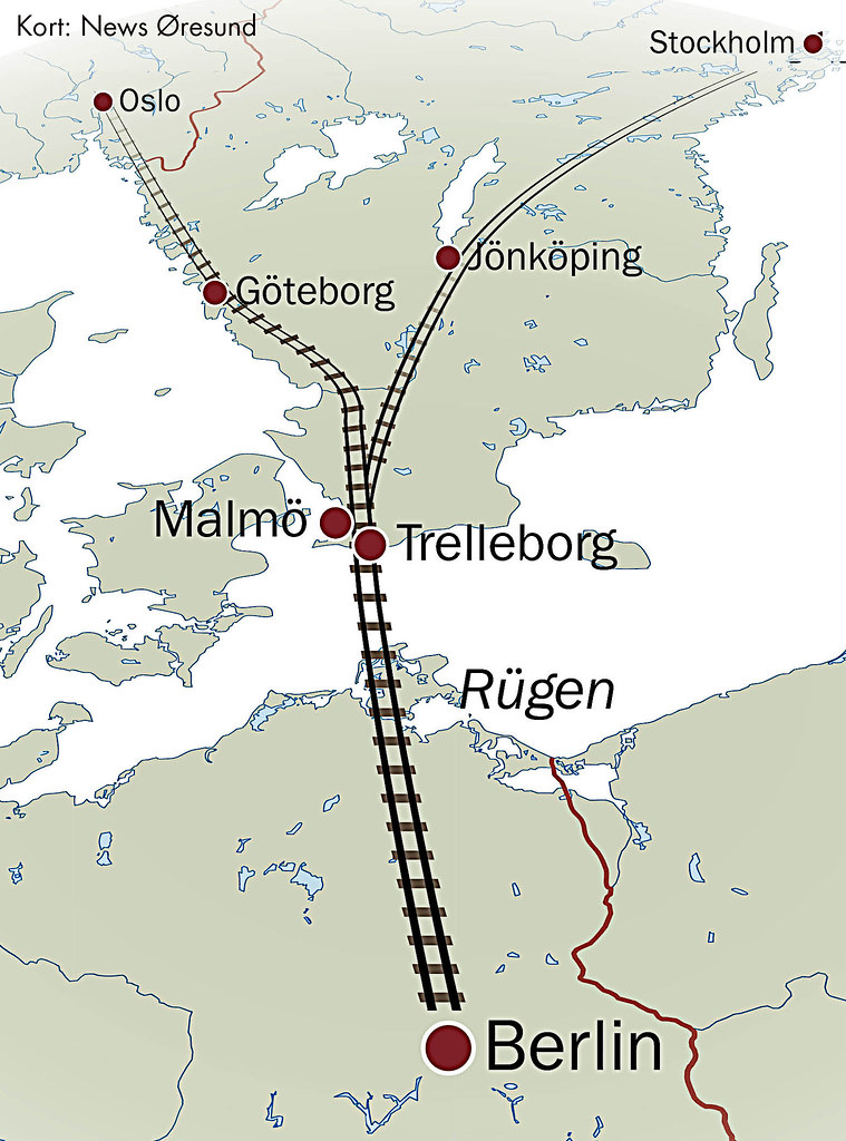 Kort Tunnel Skane Stralsund 201401 Dansk Kort Togtunnel Fr Flickr