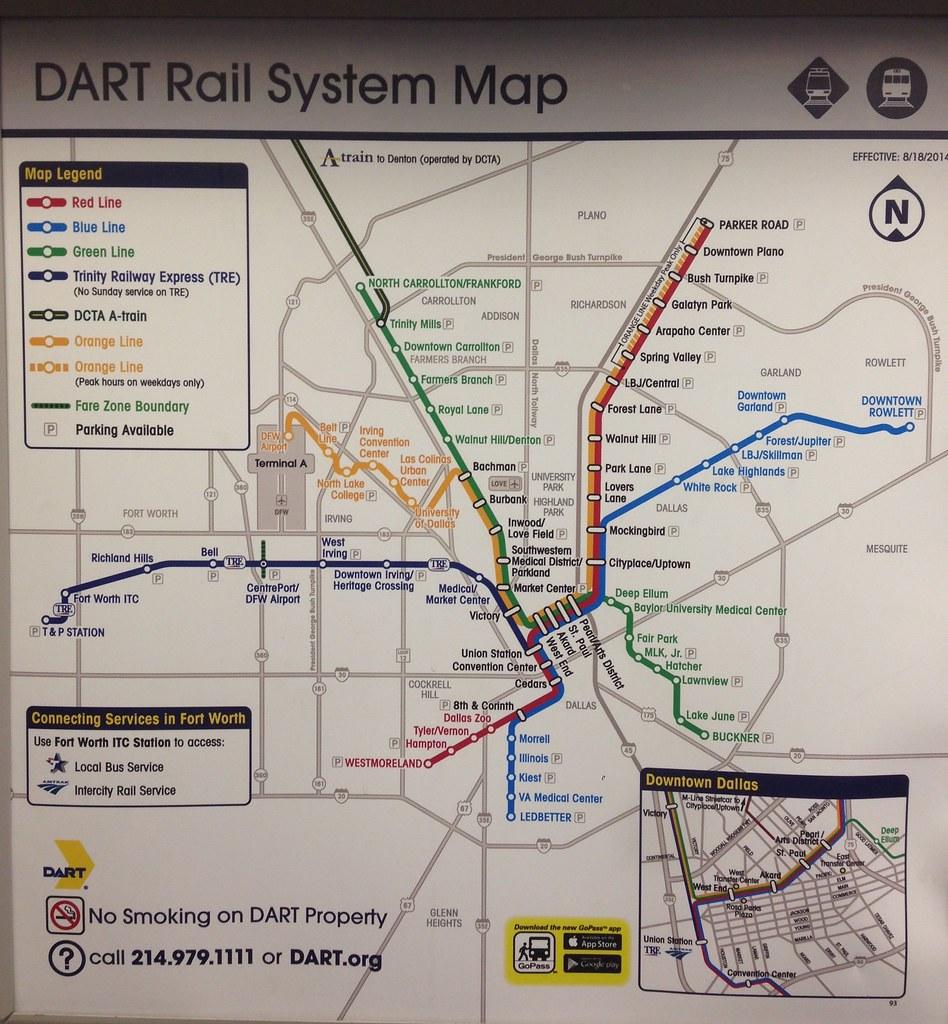 Dart Rail Map on