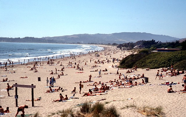 Busy day at Stinson Beach....in 1976