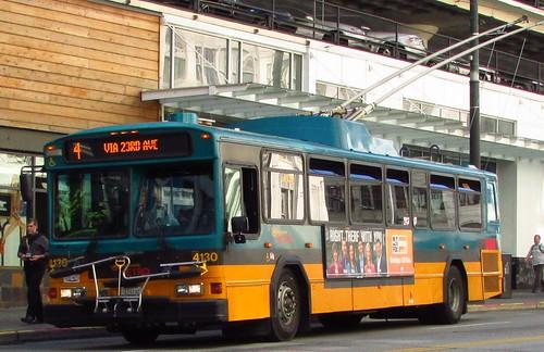 King County Metro 2001 Gillig Phantom Trolley 4130