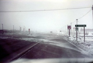 Kansas   -   Goodland   -   Drove in a Blizzard until Goodland, where they closed the  Interstate and we had to spend the night...before continuing on the following day to Denver and our visit with John & Pat Lloyd   -   March 1983