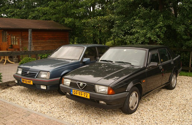 1987 Opel Ascona C 2.0NE GT & 1991 Alfa Romeo 75 1.8 i.e. Kat