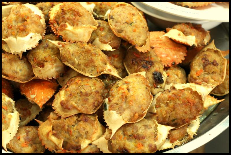 stuffed crab shell