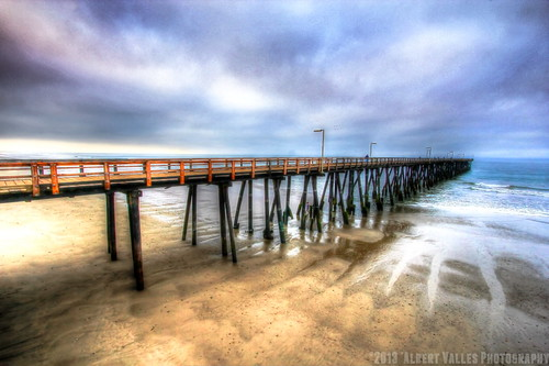 california blue usa beach water pier sand dramaticsky hdr venturacounty oxnard porthueneme photomatix