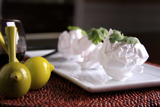 IMG_Balled up paper with cilantro garnish