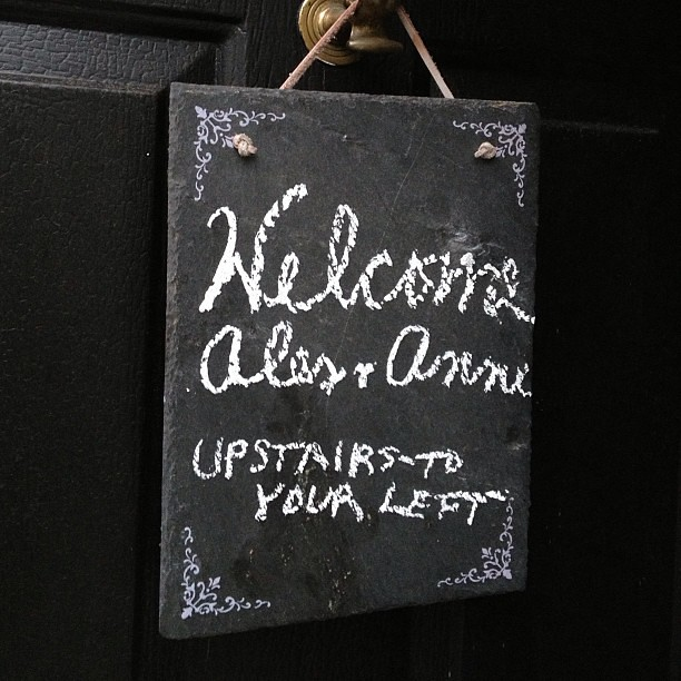 A lovely welcome sign at our @airbnb stay in Rye, NH | Flickr