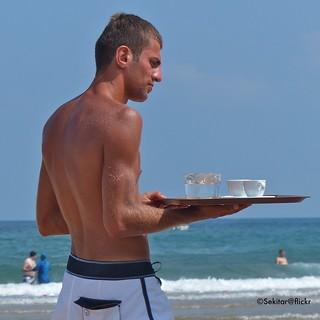 Beach service at Şile near Istanbul, Black Sea, Turkey