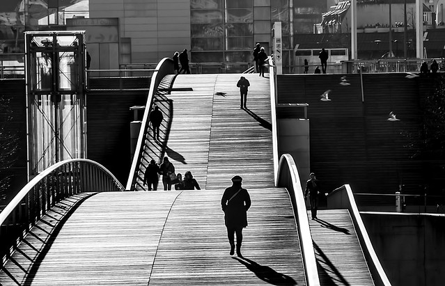 Sunday walk on the bridge