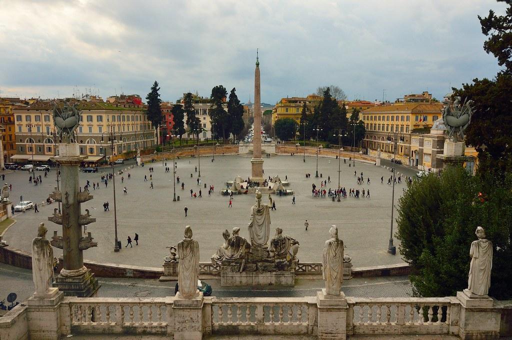 Piazza Del Popolo Vista Dalla Terrazza Del Pincio L Origin