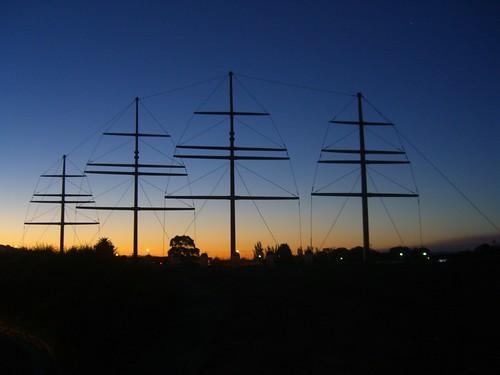 sculpture silhouette australia esplanade tasmania publicart masts launceston betweentwobridgestrail