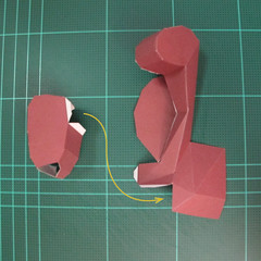 วิธีทำโมเดลกระดาษตุ้กตาคุกกี้รัน คุกกี้รสฮีโร่ (LINE Cookie Run Hero Cookie Papercraft Model) 022