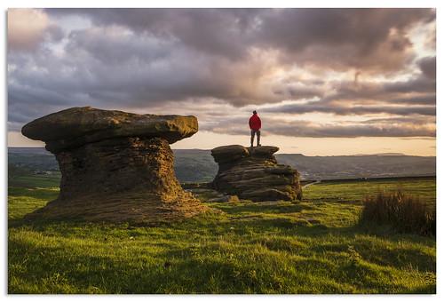 sunset yorkshire ilkleymoor rockformation 2016 d600 doublerstones cobbydale