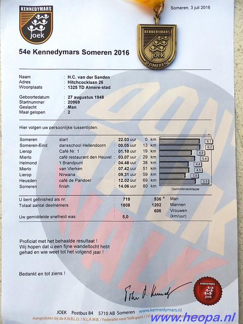 2016  2 & 3  Juli Someren   Kennedy-mars     80 Km  (161)
