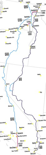 Map of US highway 95 and family | by Our Own Solar System